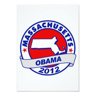 Obama - Massachusetts 5x7 Paper Invitation Card