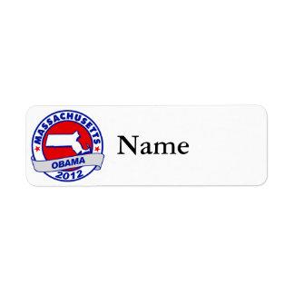 Obama - Massachusetts Custom Return Address Labels