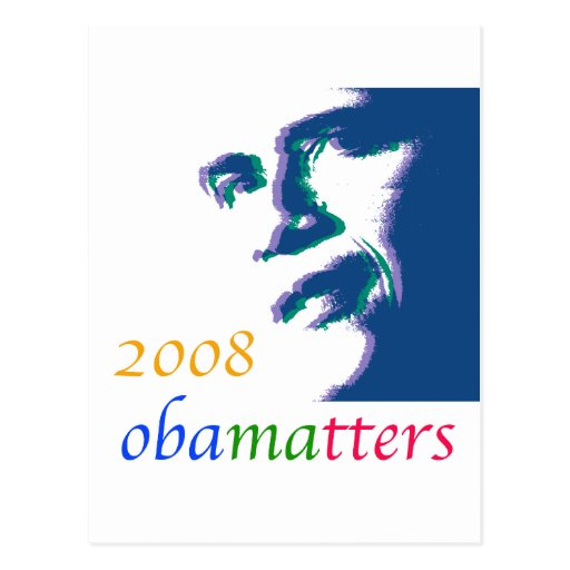Obama matters post card