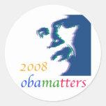 Obama matters round stickers