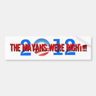 Obama-Mayan Conspiracy Bumper Sticker