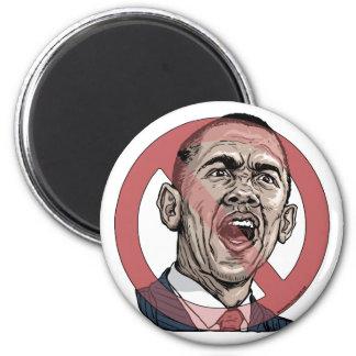 Obama me asusta camisetas y engranaje imán redondo 5 cm