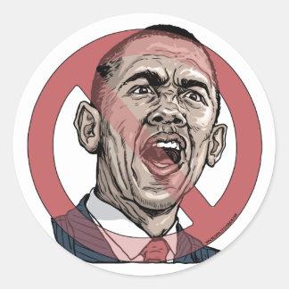 Obama me asusta camisetas y engranaje pegatina redonda