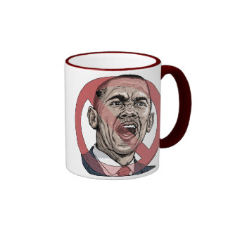 Obama me asusta camisetas y engranaje taza de dos colores