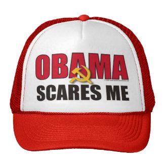 Obama me asusta gorros bordados