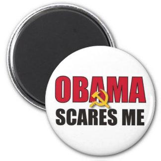 Obama me asusta imán redondo 5 cm