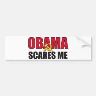 Obama me asusta pegatina para auto