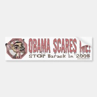 Obama me asusta pegatina para el parachoques pegatina para auto
