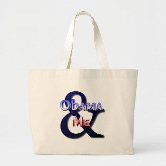 Obama & Me Large Tote Bag