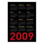 Obama Memorabilia - 2009 Pocket Calendar Business Card