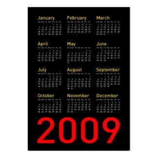 Obama Memorabilia - 2009 Pocket Calendar Large Business Card