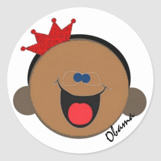 Obama memorabilia classic round sticker