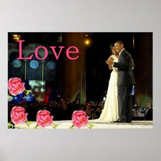 Obama-Michelle Love Poster