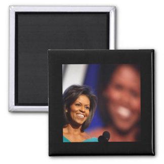 Obama-Michelle 2 Inch Square Magnet