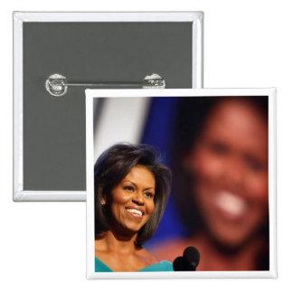 Obama-Michelle Pin Cuadrado