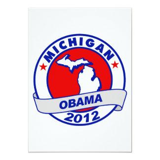 Obama - Michigan 5x7 Paper Invitation Card