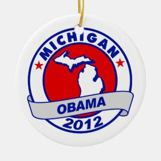 Obama - Michigan Christmas Ornaments