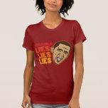 Obama miente las mentiras de las mentiras camiseta