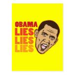 Obama miente las mentiras de las mentiras postales