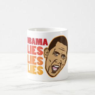 Obama miente las mentiras de las mentiras taza de café
