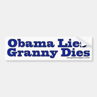 Obama miente los dados de la abuelita pegatina para auto