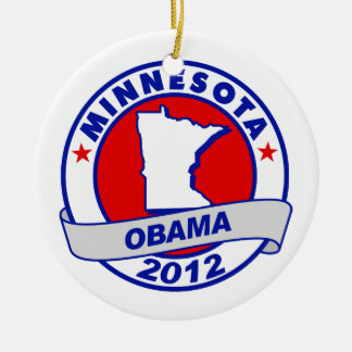 Obama - Minnesota Christmas Tree Ornament