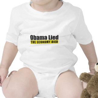 Obama mintió, la economía murió traje de bebé
