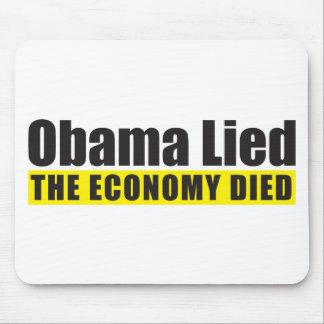 Obama mintió, la economía murió alfombrilla de raton
