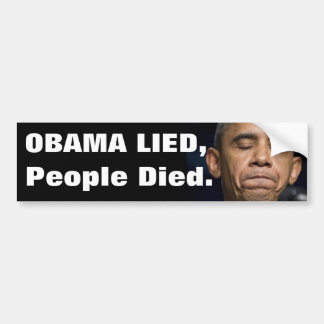 Obama mintió, Peiople murió Pegatina Para Auto