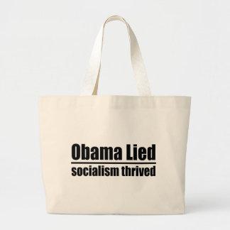 Obama mintió, socialismo prosperó bolsa