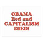¡Obama MINTIÓ! Tarjeta Postal