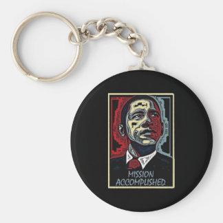 Obama Mission Accomplished 5 Basic Round Button Keychain