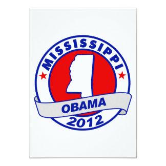 Obama - Mississippi 5x7 Paper Invitation Card