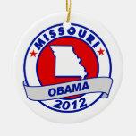 Obama - Missouri Christmas Ornaments