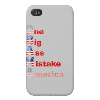 Obama mistake 2 Faded png iPhone 4 Cover