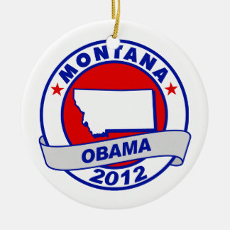 Obama - Montana Christmas Ornaments
