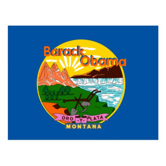 Obama Montana Postcard