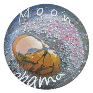 Obama Moon Dinner Plate