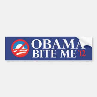 obama-mordedura yo 12 pegatina de parachoque