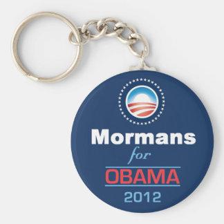 Obama MORMANS Basic Round Button Keychain