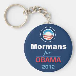 Obama MORMANS Llavero Redondo Tipo Pin