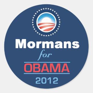 Obama MORMANS Round Sticker