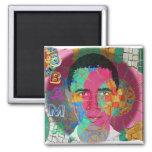 Obama Mosaic Square Magnet