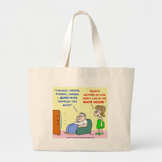 Obama mother-in-law travel white house large tote bag