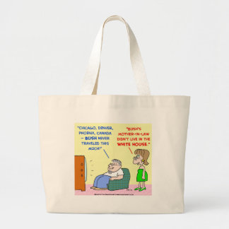 Obama mother-in-law travel white house tote bag