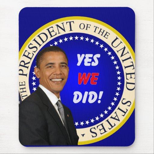 Obama Mousepad Alfombrillas De Ratones