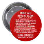 Obama Moving Day Sale Pinback Button