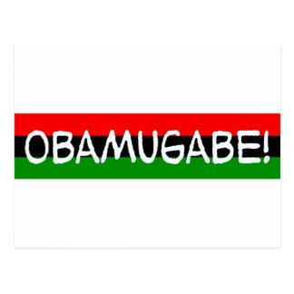 obama mugabe obamugabe postcard