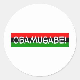 obama mugabe obamugabe classic round sticker