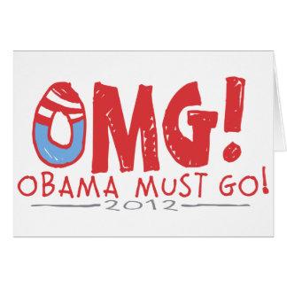 Obama Must Go 2012 Card
